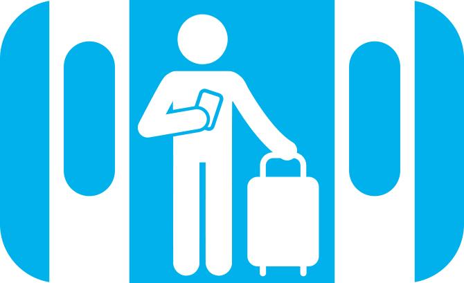 Eerst uitstappen, dan instappen. Illustratie bij blog over treinreisetiquette.