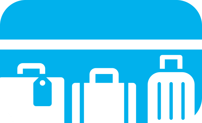 Geen tassen op de stoel. Illustratie bij blog over treinreisetiquette.