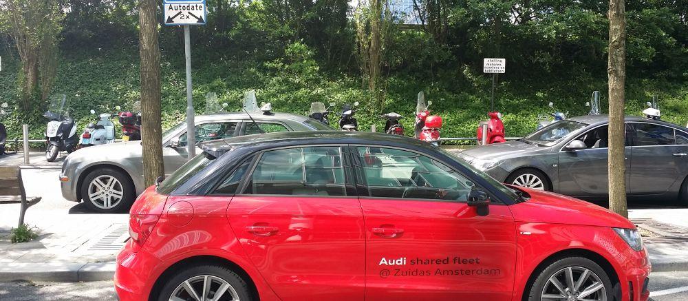 Een deelauto van Audi shared fleet bij blog over autodelen voor bedrijven